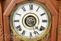 Wood Carved Case Mantle Clock