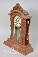 Wood Carved Victorian Mantle Clock