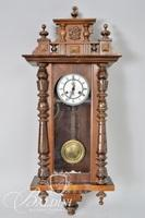 German Carved Wood Wall Hanging Clock