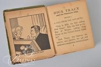 1940 Dick Tracy Book and Wood Carved Bank with Painted Windmill