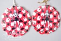 (2) Guitar Pick with Dice and Betsy Johnson Earrings