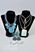 Costume Jewelry Necklaces, Earrings and Flower Wire Brooch