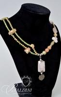 (2) Gemstone Necklace and Eye Glass Holder