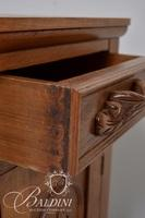 Victorian Carved Wood Nightstand/Cabinet with Pin and Cove Dovetail