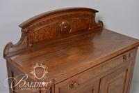 Victorian 2-Door Washstand with Burl Wood Panels, Single Drawer and Dovetail Joint Detail