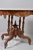 Victorian Marble Top Table with Fancy Carved Detail
