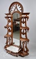 Fancy Victorian Solid Wood Etagere with Mirror
