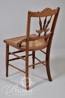 (4) Victorian Carved Wood Occasional Chairs Includes Matching Pair