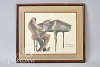 Leo Meiersdorff Original Framed Watercolor, Artist Signed
