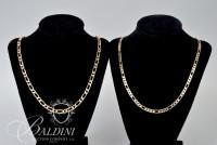 "14K Yellow Gold 24"" Chain and (1) 20"" Costume Chain - 41.6 Grams"