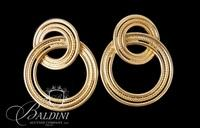 Pair of 14K Yellow Gold Double Loop Pierced Earrings - 4.2 Grams