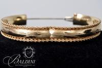 14K Yellow Gold Bangle Bracelet - 17.9 Grams