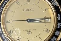 Gold Tone Gucci Quartz Movement Alarm Watch - Not Working