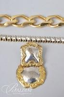Yellow Vermeil (Gold over Sterling) Bracelet with CZ Stones, Christian Dior Bracelet and (1) Sterling Earring