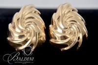 14K Yellow Gold Earrings - 4.4 Grams