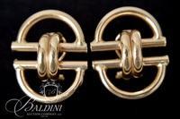 14K Yellow Gold Hollow Earrings - 4.4 Grams