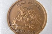 Pearl Harbor Commemorative Coin from the Arizona Memorial Museum Association and a Wallace Campaign Button