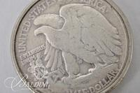 1944 Walking Liberty Half Dollar Mounted as a Pendant