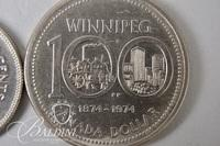 1974 Winnipeg 100 Year Anniversary Coin and Other Foreign Coins