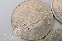 """(6) Liberty Dollars and 1989 """"D"""" Kennedy Half Dollar and 1964 """"D"""" Quarter"""