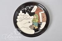"Swiss Artist ""Burkart Handarbeit"" Small Hand Painted Ceramic Plate Artist Signed"