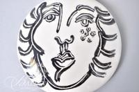 "Paul Harmon ""The Face"" Hand Painted Ceramic Box"