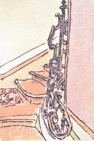 """Paul Harmon """"The Staircase"""" Limited Edition Giclee, Signed and Numbered 5/12."""