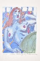 """Paul Harmon """"Blue Odalisque"""" Limited Edition Giclee Print, Signed and Numbered 3/20"""