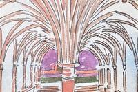"""Paul Harmon """"Abbey"""" Limited Edition Giclee Print, Signed and Numbered 3/20"""