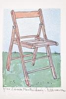 """Paul Harmon """"Lawn Party Chair"""" Limited Edition Giclee Print, Signed and Numbered 2/20."""