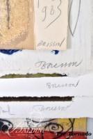 "Pierre-Marie Brisson - Five ""Bonne Annee"" (Happy New Year) Hand Created & Carborundum Etchings and Dedicated Memorabilia"