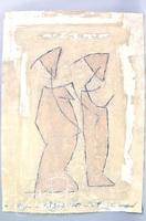 """Pierre-Marie Brisson """"Two Figures"""" Carborundum Etching, AP With Signature and Dedication"""