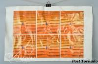 """DAMAGED- Jean-Michel Folon """"Stairway"""" A Sheet of Six Color 6"""" x 6"""" Images Offset proof sheets, Signed in Printing"""