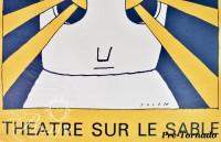 DAMAGED- Jean-Michel Folon Festival du Lavandou Poster