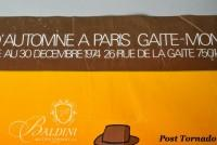 DAMAGED- Jean-Michel Folon Festival D'Automme a Paris Garte-Montparnasse Poster, Hand Signed and Dedicated