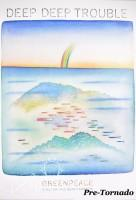 """DAMAGED- Jean-Michel Folon """"Deep Deep Trouble"""" Greenpeace Nuclear Free Seas Poster, 1988"""
