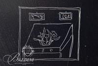 Jean-Michel Folon Original Drawing on Scratch Board, Inscribed to Dany et Paul