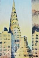 "DAMAGED- (3) Philippe LeJeune Etchings ""Chrysler Building"" 3 Views, Signed and Numbered 5/45 and 24/45 and ""New York Skyline"" Signed and Numbered 15/45"
