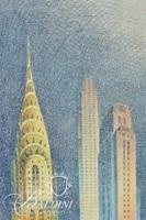 """(2) Philippe LeJeune Etchings """"Chrysler Building"""" 3 Views, Signed and Numbered 24/45 and """"New York Skyline""""  Signed and Numbered 6/45"""