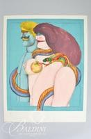 """Richard Lindner Lithograph """"How it All Began"""" 1976, Signed and Numbered 100/250"""
