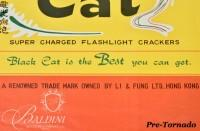 DAMAGED- Black Cat Super Charged Flashlight Crackers Poster