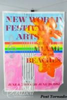 DAMAGED- James Rosenquist Poster New World Festival of the Arts, 1982 With Text