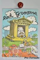 DAMAGED- Red Grooms Poster Martin Wiley Gallery, Nashville 1978, Dedicated and Signed in Pencil