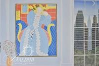 Tom McKnight Poster Art Expo 1981 New York, Depiction of New York Interior with Matisse, Signed