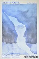 DAMAGED- Colette Portal Poster Galerie de L'Angle Aigu Brussels, Signed, 1977