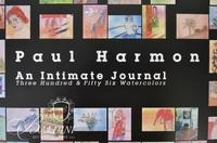 Paul Harmon Signed Poster - An Intimate Journal 356 Watercolor Paintings