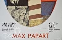 Max Papart Poster Art Expo NY 1979, Pencil Signed