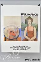 DAMAGED- Paul Harmon Signed Poster of Cavaliero Fine Arts NYC, 1978 and Galerie Sabala Signed Poster, Paris 1990