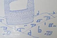 (2) Jean-Michel Folon Original Concept Drawings in Preparation for Watercolor