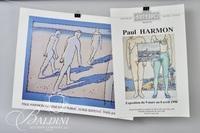 Paul Harmon Signed Poster Galerie d'Art Public, Paris 1989
